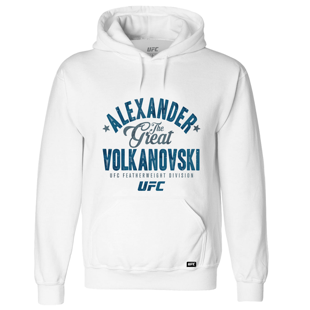 "Men's UFC Alexander ""The Great"" Volkanovski Graphic -Hoodie-White"