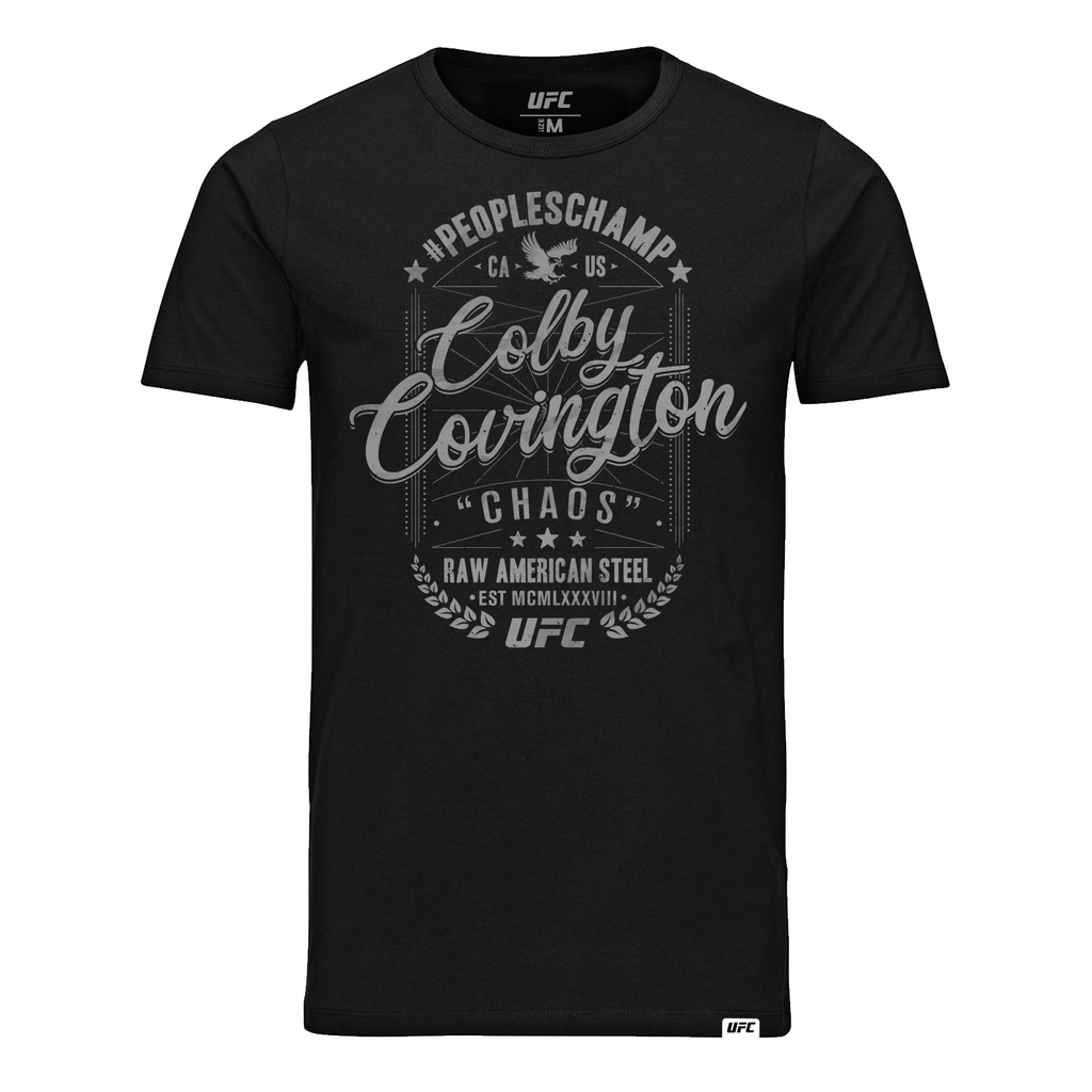 "Men's Colby Covington Peoples Champ ""Chaos"" Crest T-Shirt-Black"