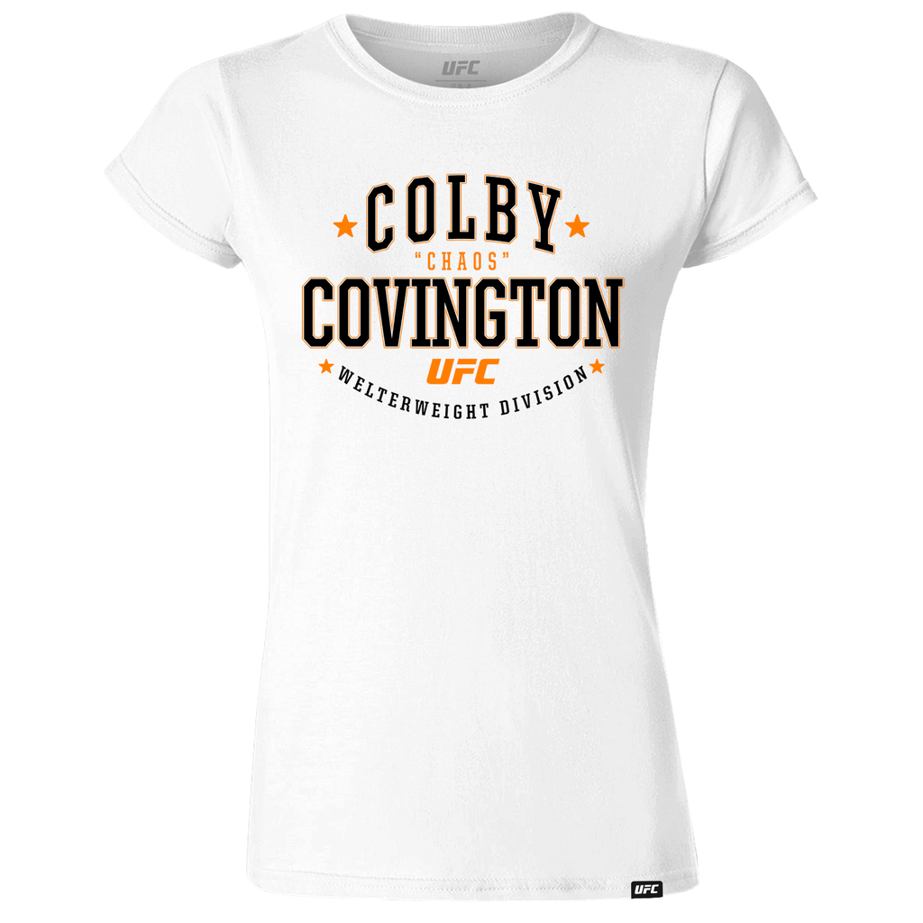 "Women's UFC 245 Colby Covington Peoples Champ ""Chaos"" Crest -T-Shirt-White"