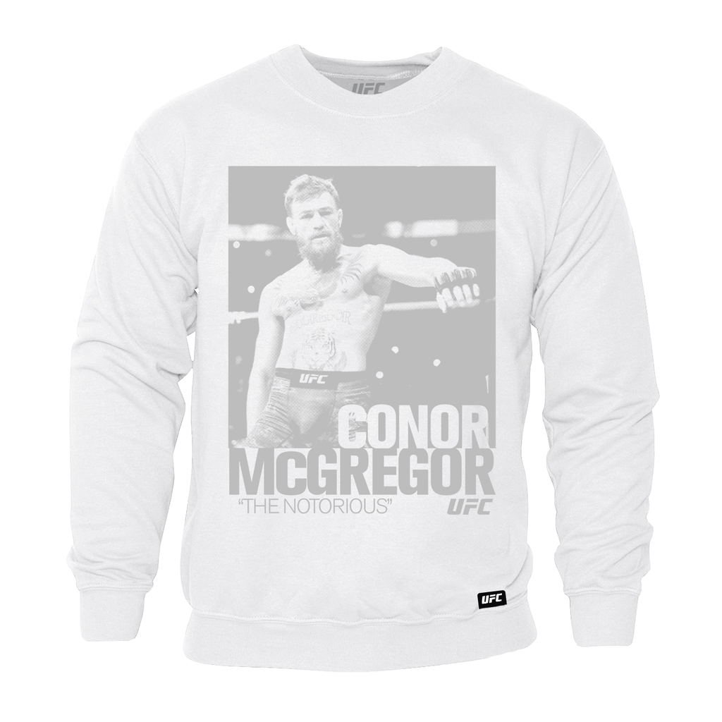 "Men's UFC Conor ""The Notorious"" McGregor ICON Sweatshirt -Grey"