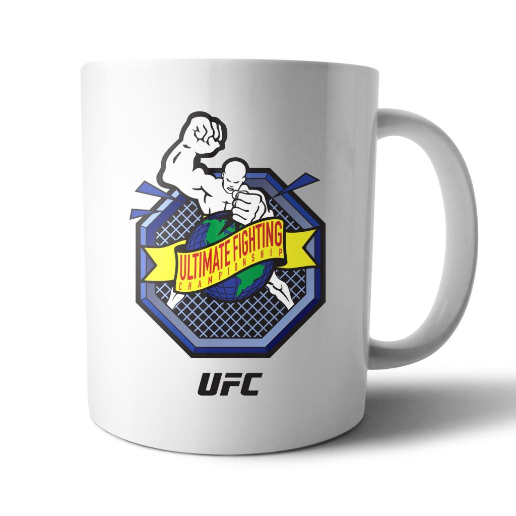 "UFC ""Ulti-Man"" Octagon Ultimate Fighting Championship Mug White"