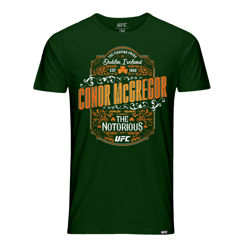 "Men's UFC Conor ""The Notorious"" McGregor Vintage Graphic T-Shirt -Green"