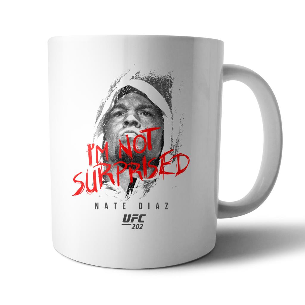 "UFC Nate Diaz ""I'm Not Surprised"" Mug White"