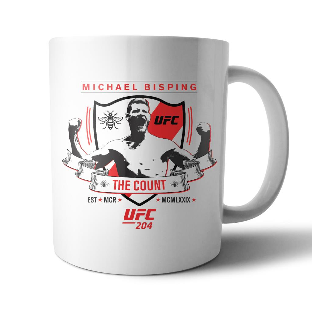 "UFC Michael ""The Count"" Bisping EST MCR Mug White"