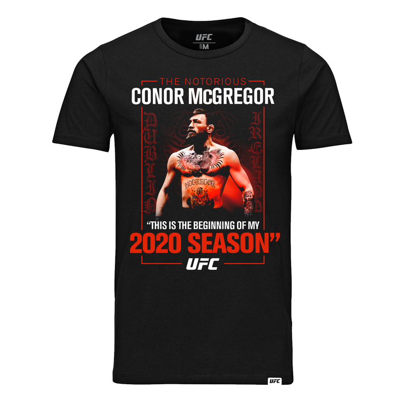 "Men's UFC Conor ""The Notorious"" McGregor Winners T-Shirt - Black"
