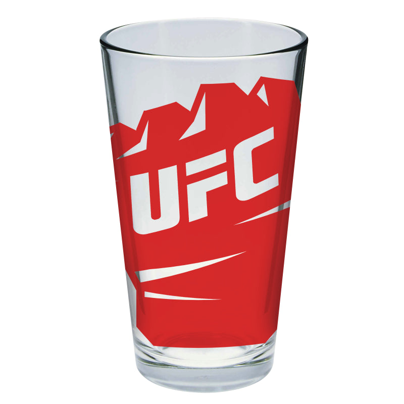 UFC Glove Fist Red Pint Glass