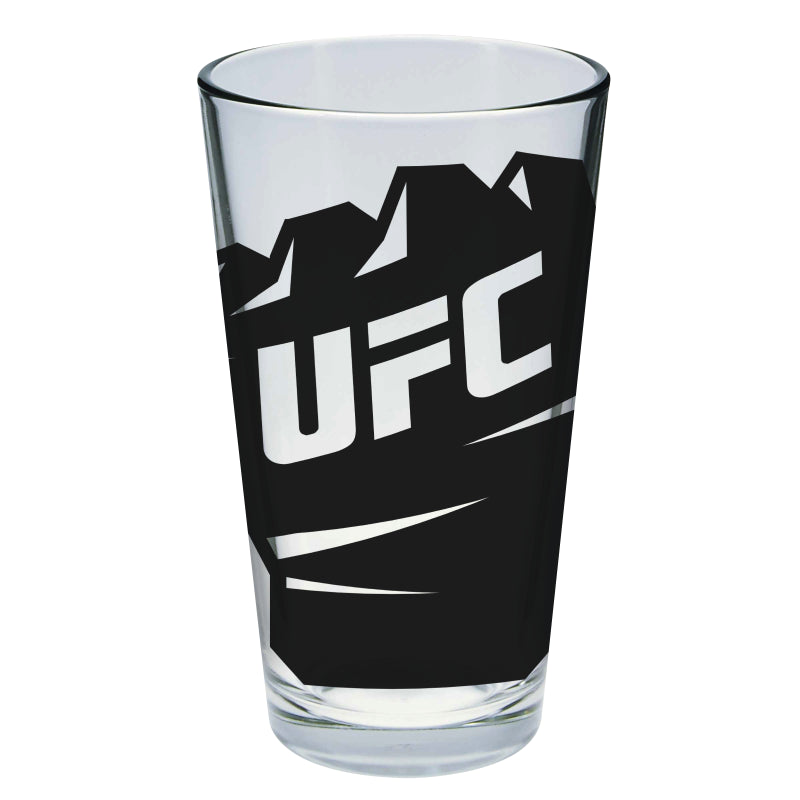 UFC Glove Fist Black Pint Glass