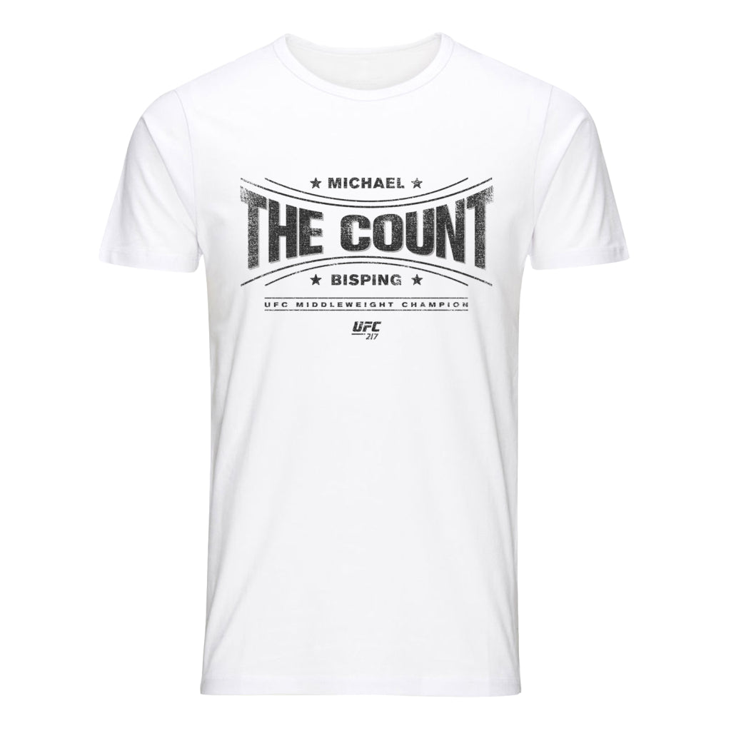 "UFC Michael The ""Count"" Bisping Graphic T-Shirt-White"