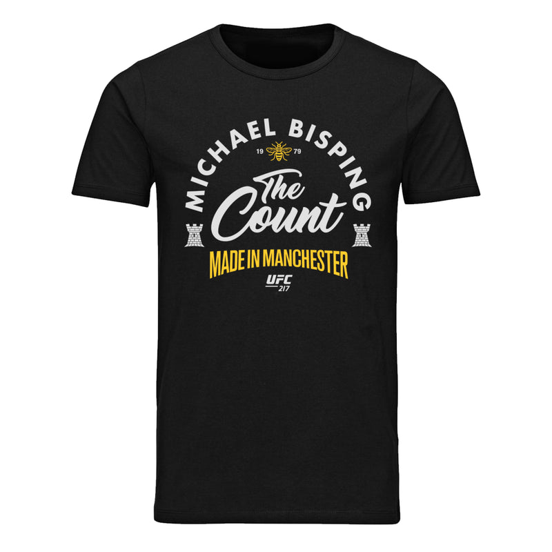 "UFC Michael The ""Count"" Bisping Made in Manchester T-Shirt-Black"