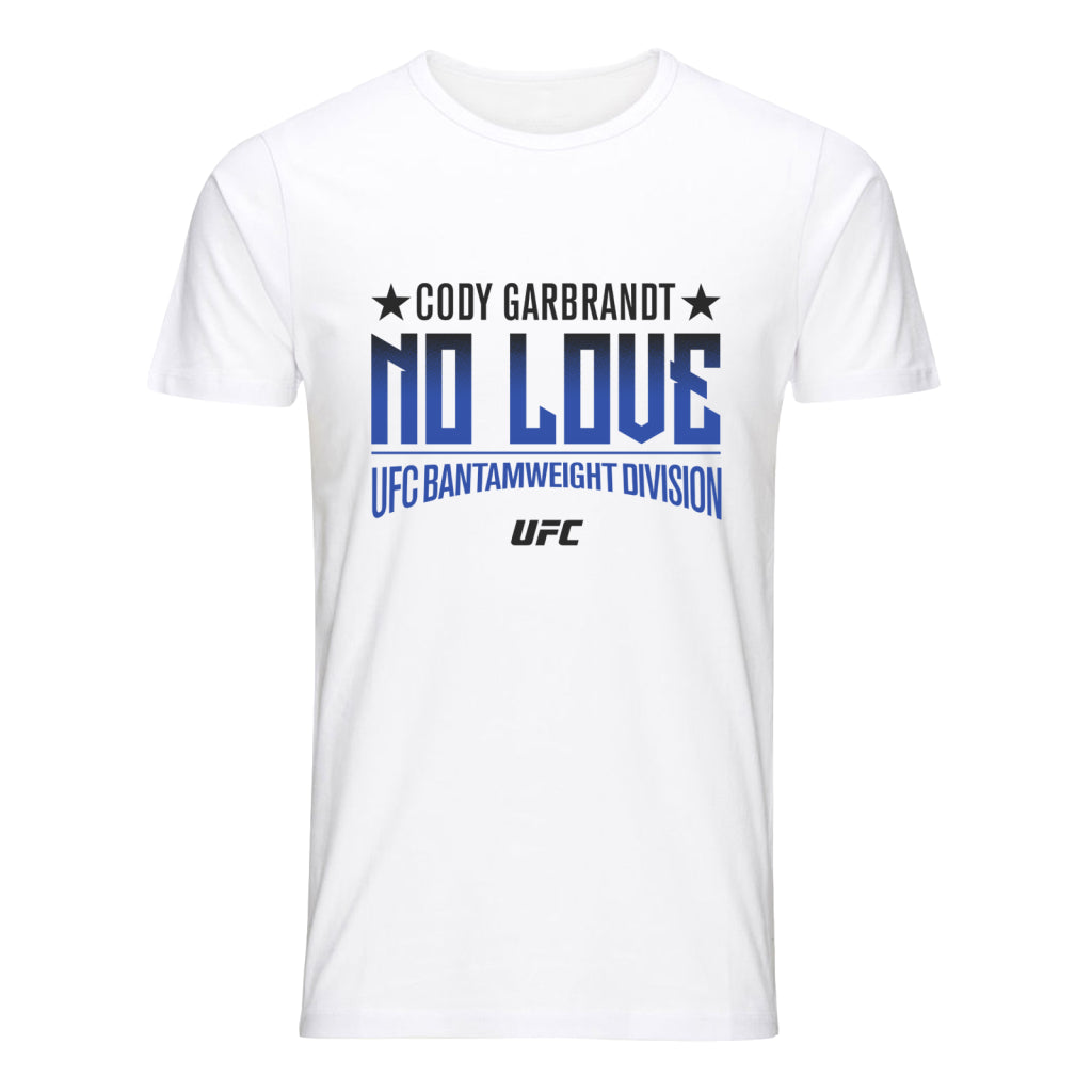 "UFC Cody ""No Love"" Garbrandt Graphic T-Shirt- White"