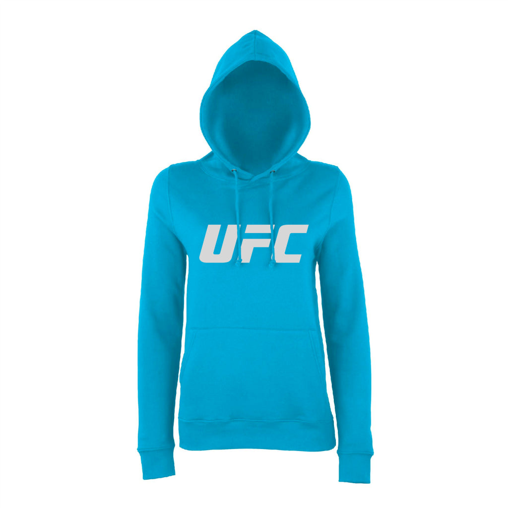 UFC Branded Women's Logo Hoodie- Hawaiian-Blue