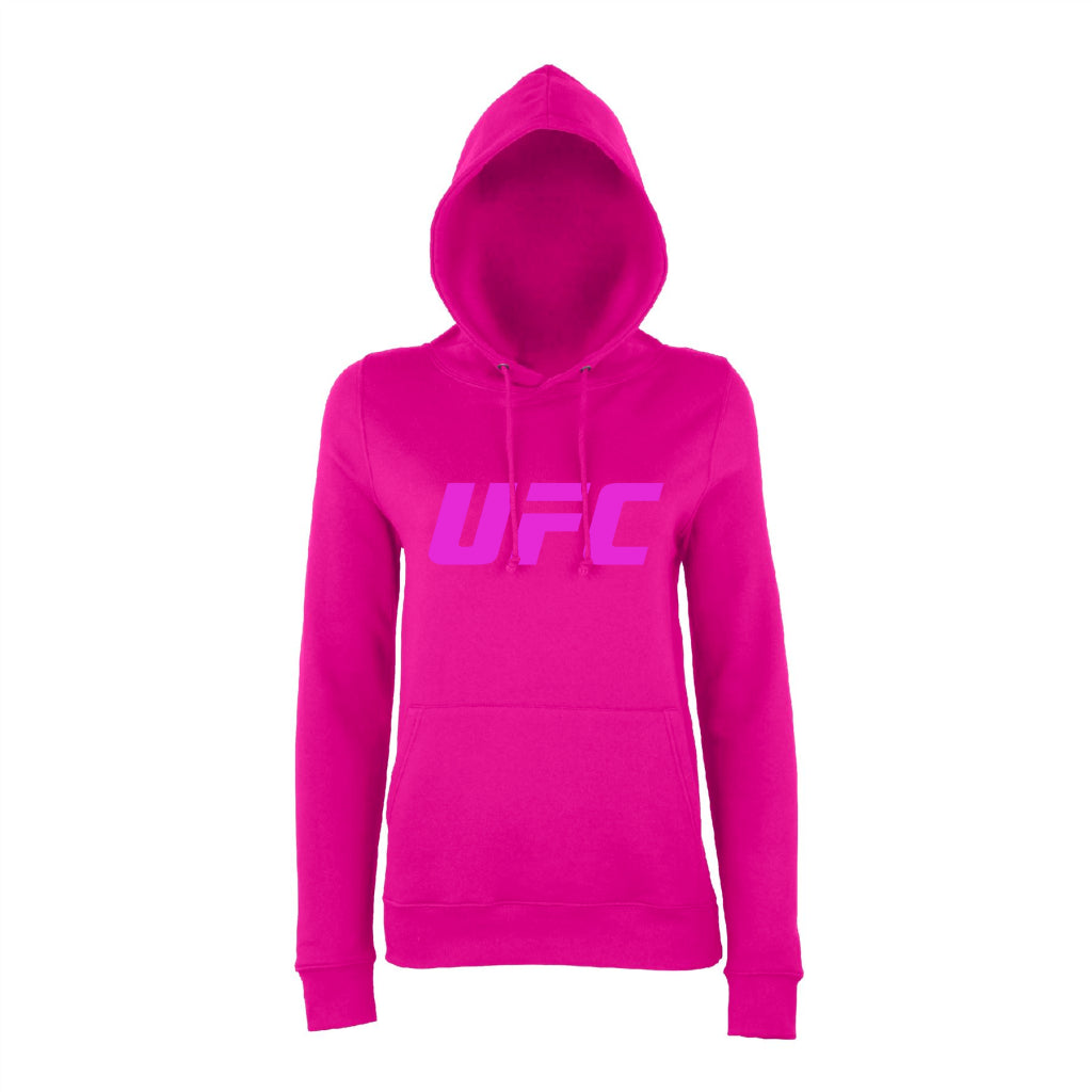 UFC Branded Women's Logo Hoodie -Hot Pink