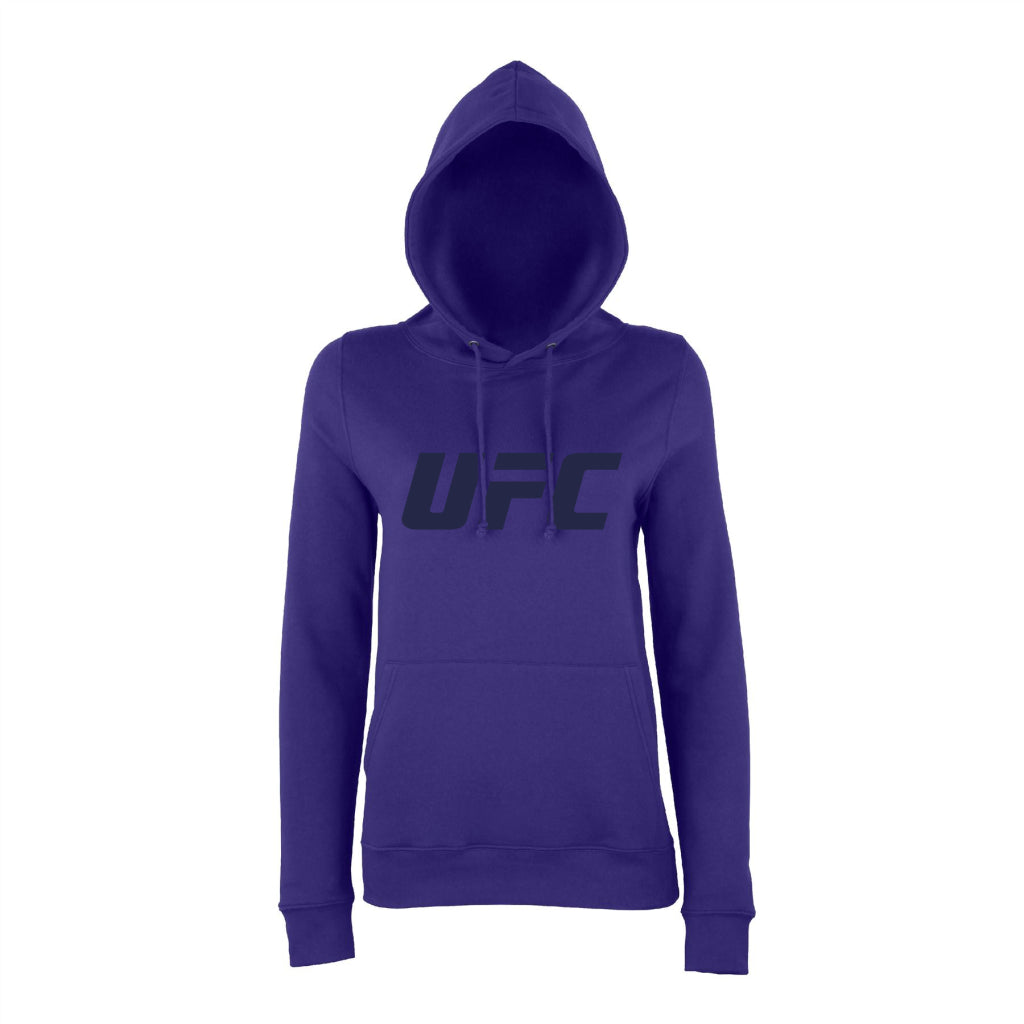 UFC Branded Women's Solid Logo Hoodie - Purple