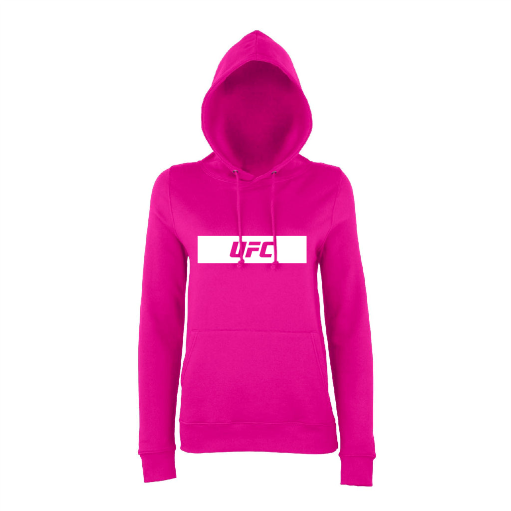 UFC Branded Women's Silhouette Logo Hoodie - Hot Pink