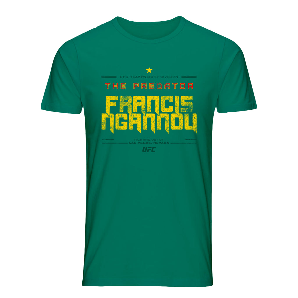 "UFC Francis ""The Predator"" Ngannou Quote T-Shirt-Green"