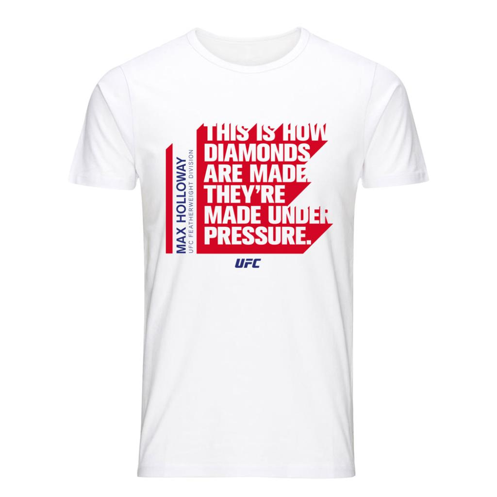 "UFC Max ""Blessed"" Holloway Quote T-Shirt-White"