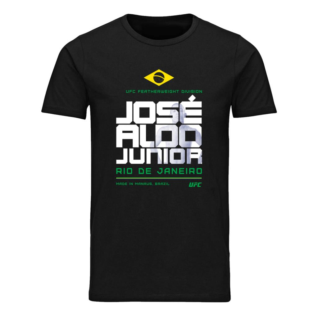 UFC José Aldo Fighting Stacked T-Shirt-Black