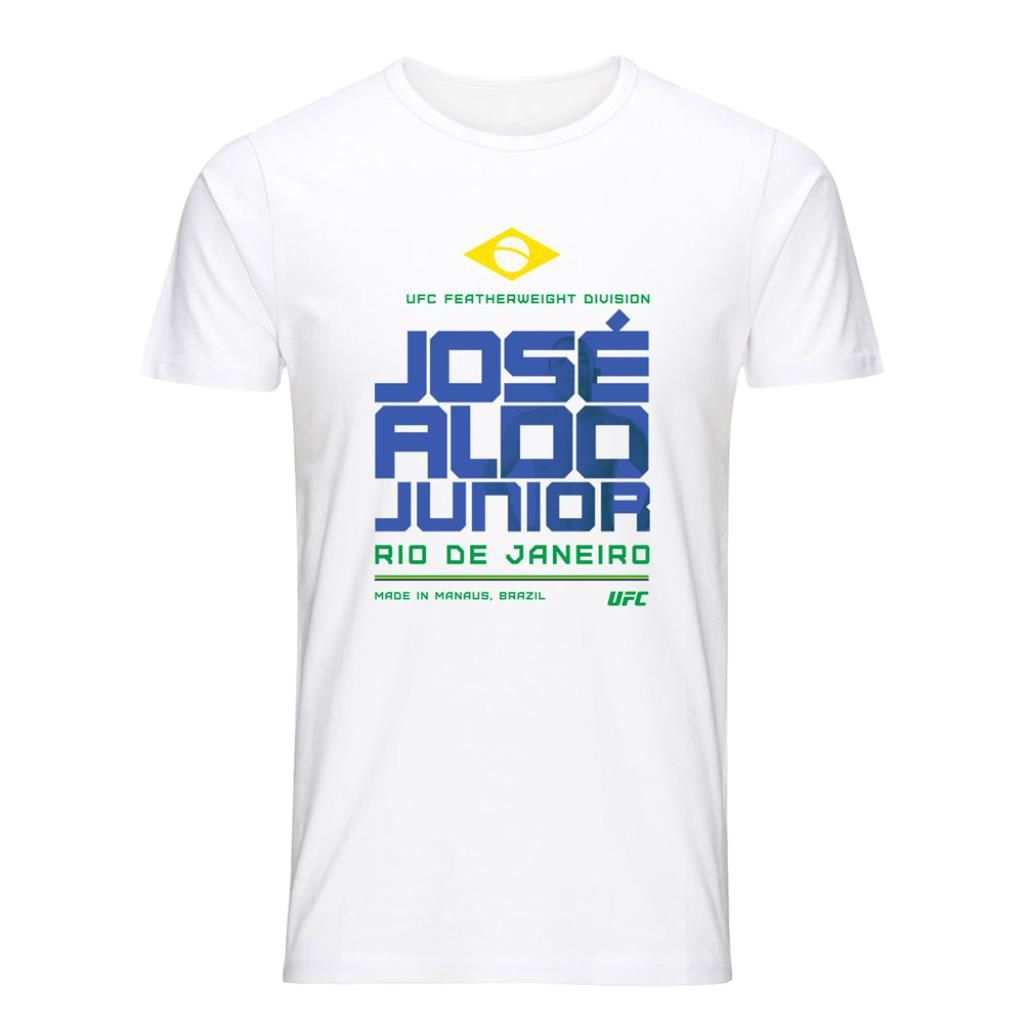 UFC José Aldo Fighting Stacked T-Shirt-White