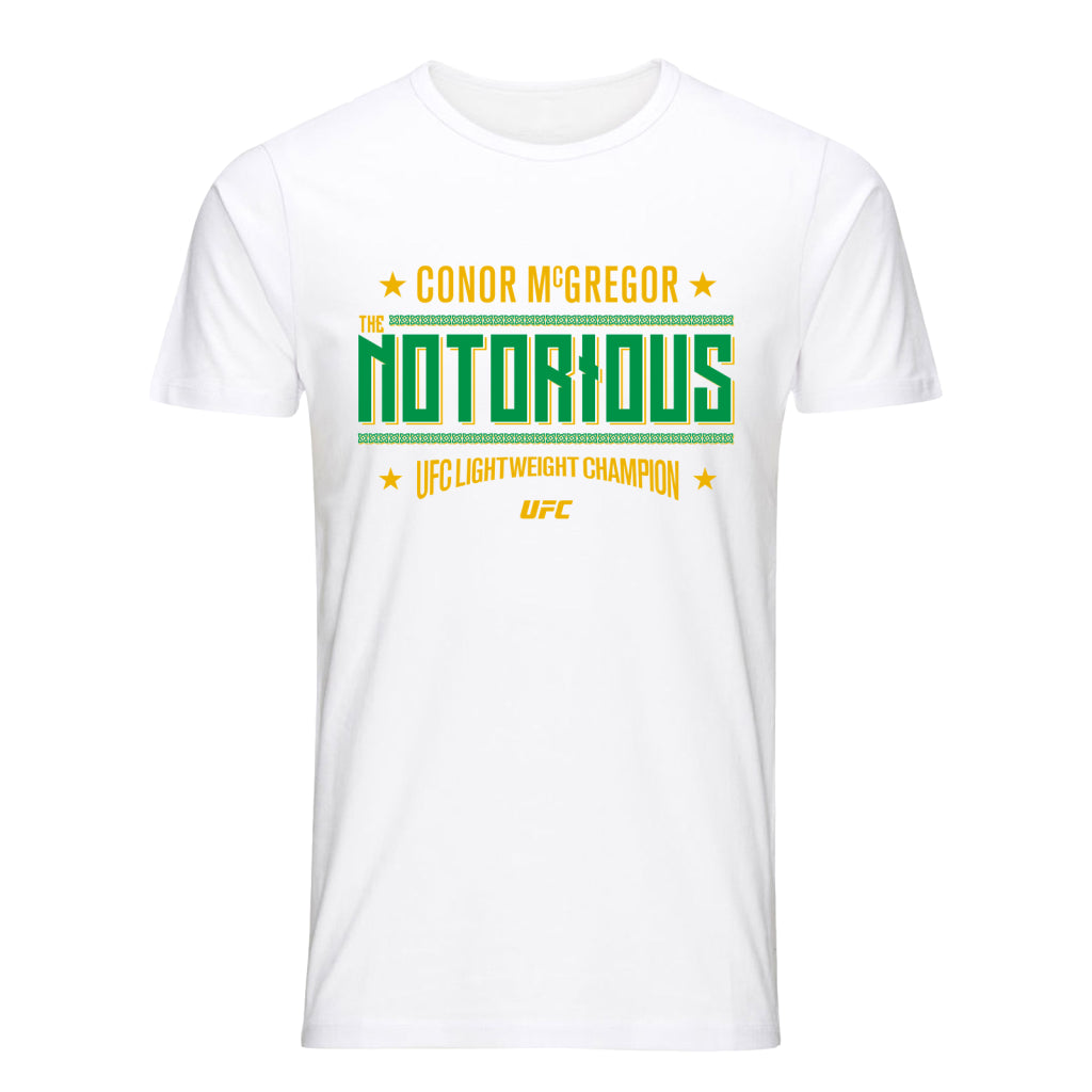 "UFC Conor ""The Notorious"" McGregor Graphic T-Shirt-White"