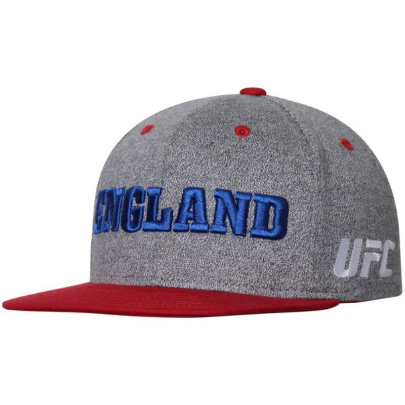 Men's Reebok Grey/Red UFC England Country Pride Snapback Adjustable Hat