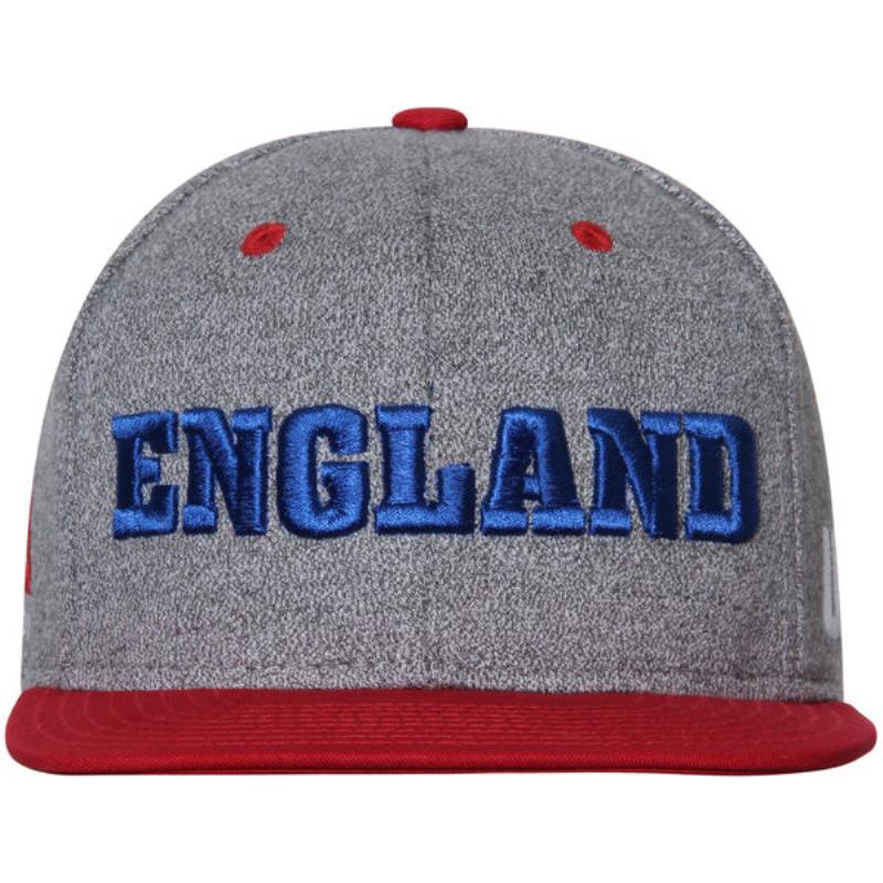94e76113c2d Men s Reebok Grey Red UFC England Country Pride Snapback Adjustable ...