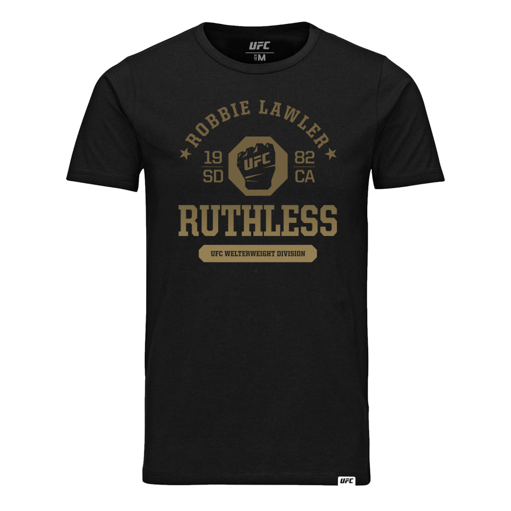 "UFC Fight Night Robbie ""Ruthless"" Lawler Octagon Fist Tee- Black"