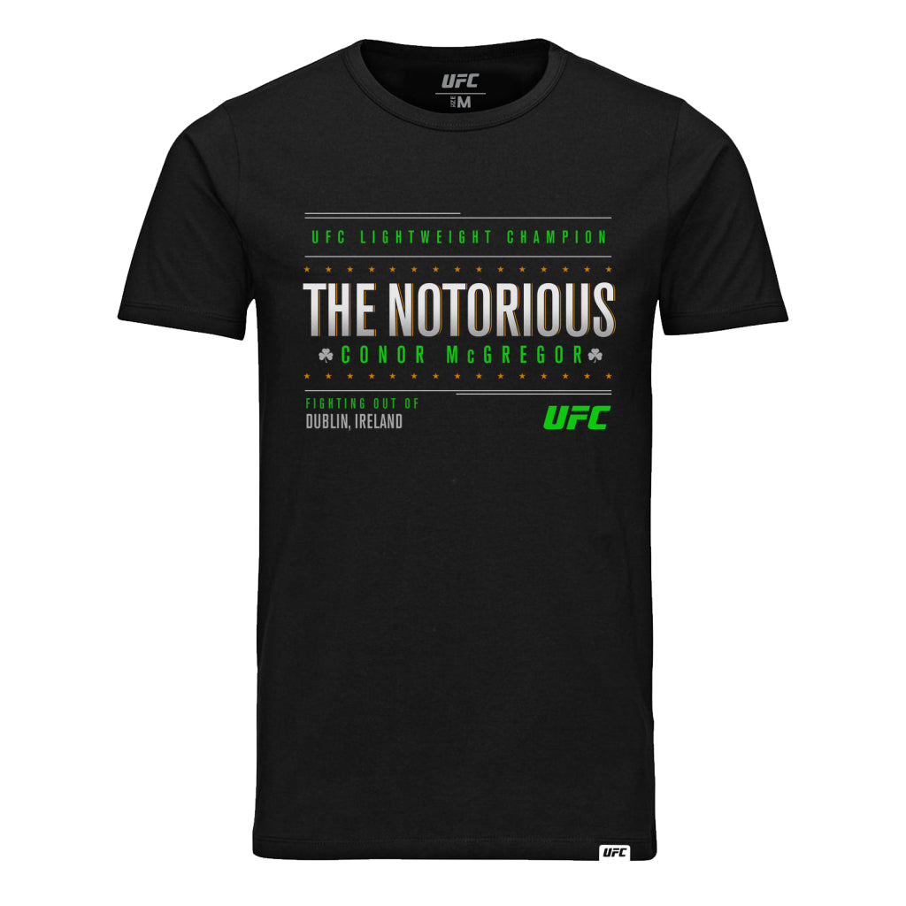 "UFC Conor McGregor ""The Notorious"" Fighting out of Dublin T-Shirt-Black"