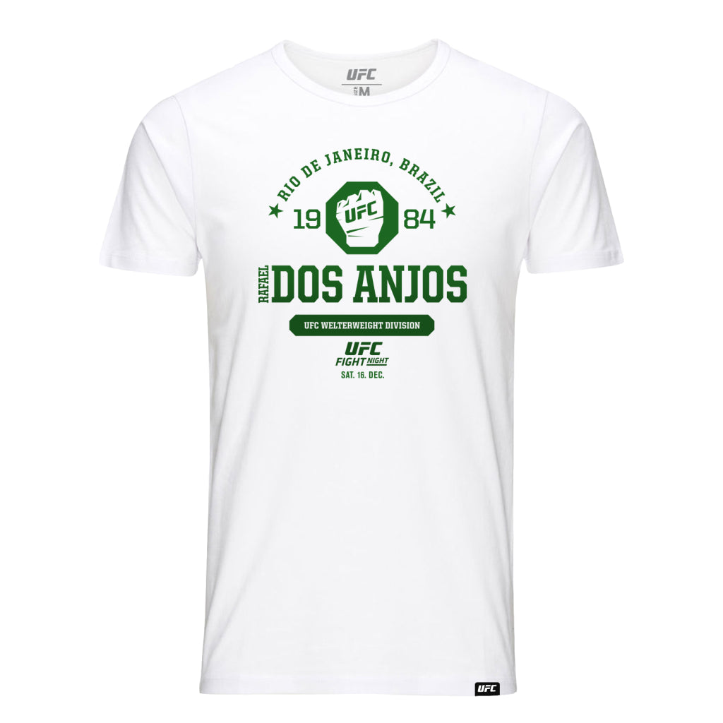 UFC Fight Night Rafael Dos Anjos Octagon Fist Tee- White