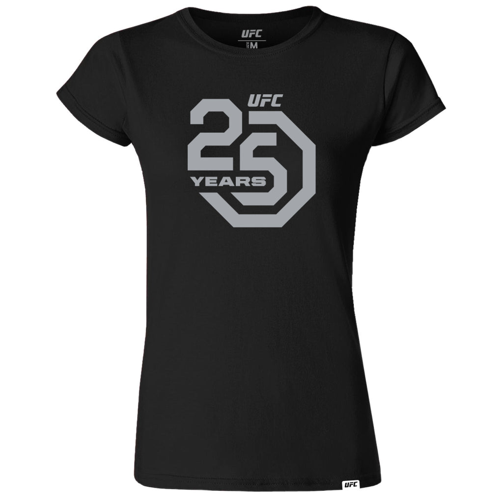 UFC 25th Anniversary Commemorative Octagon Women's Tee-Black