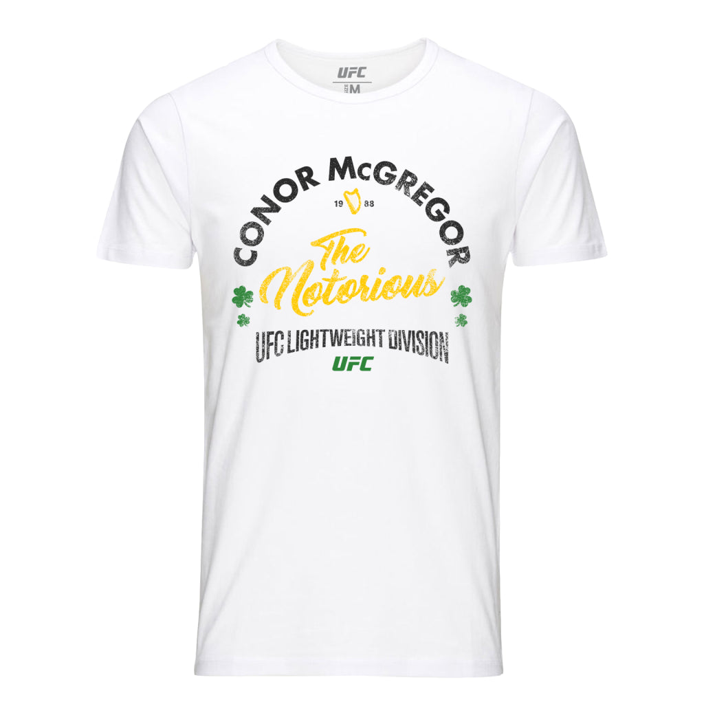 "UFC Conor ""The Notorious"" McGregor Vintage T-Shirt-White"