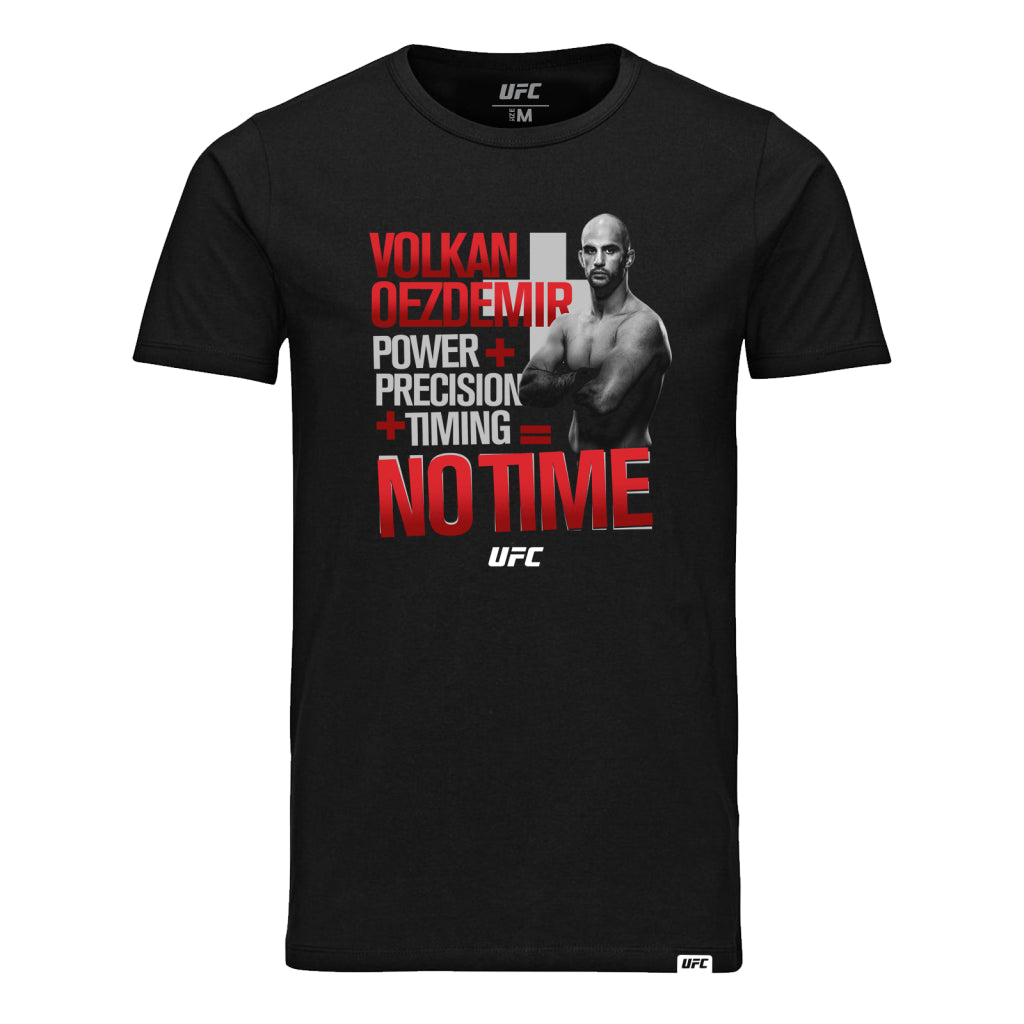 UFC Volkan Oezdemir No Time Graphic Tee- Black