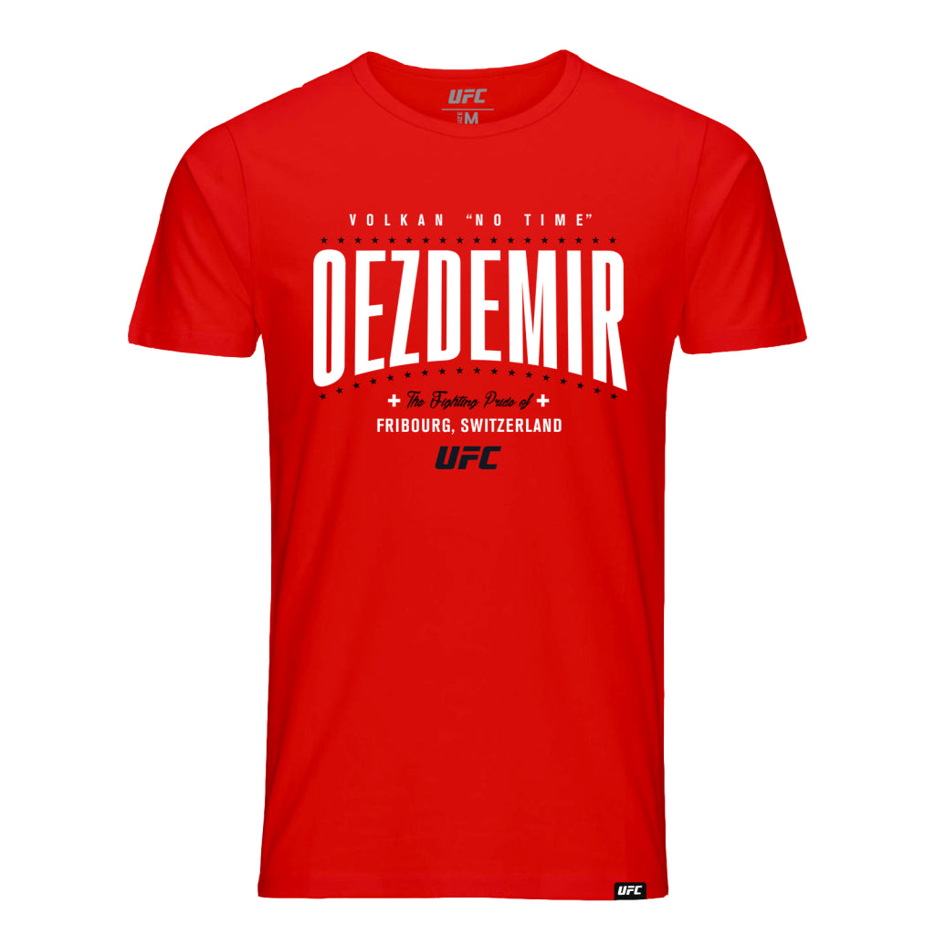UFC Volkan Oezdemir Fighting Pride Graphic Tee- Red