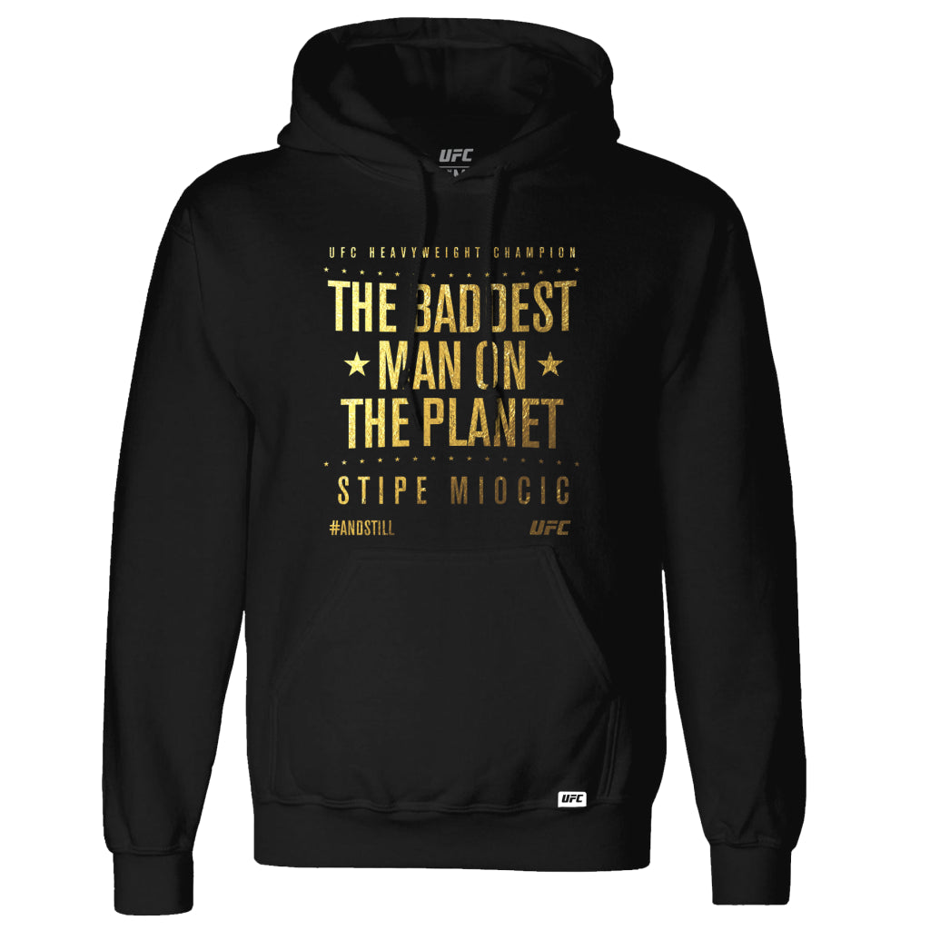 UFC Stipe Miocic #AndStill Heavyweight Champion Gold Winners Edition Hoodie-Black
