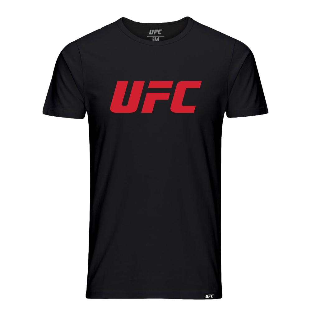 Kids UFC Classic Red Logo T-Shirt -Black