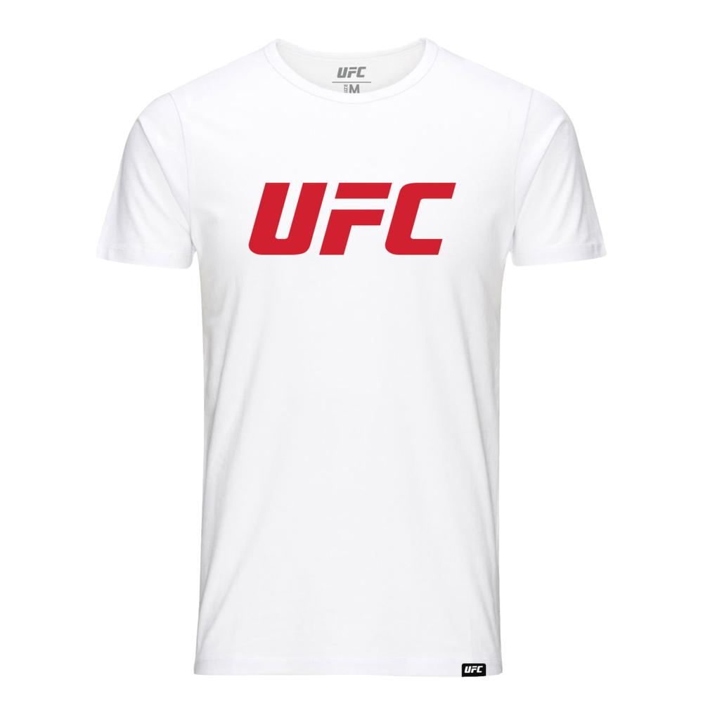 Kids UFC Classic Red Logo T-Shirt -White