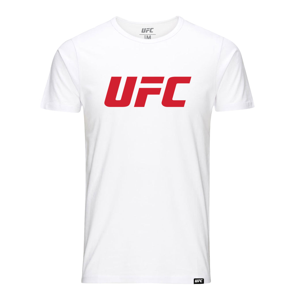 UFC  Classic Red Logo T-Shirt -White