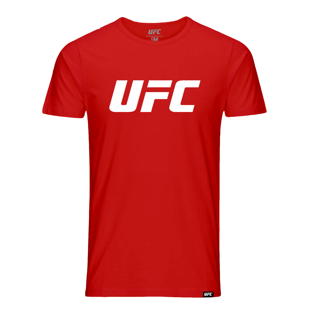 UFC  Classic White Logo T-Shirt -Red