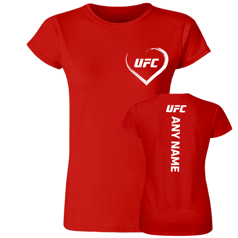 I love UFC Custom Women's T-Shirt -Red