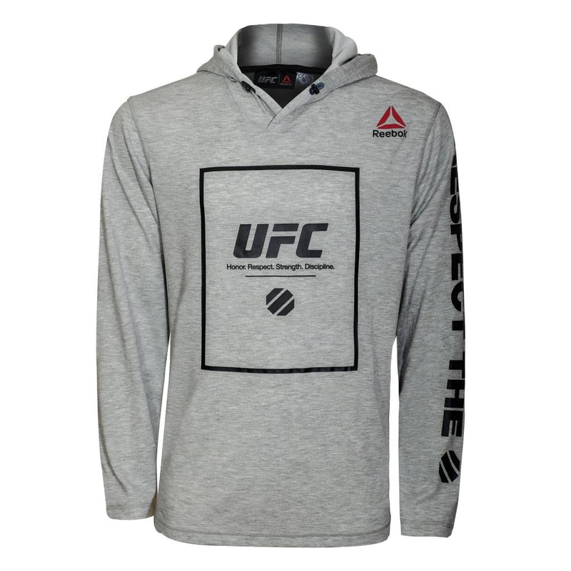 Reebok UFC Lightweight Pullover Hood-Heather Grey