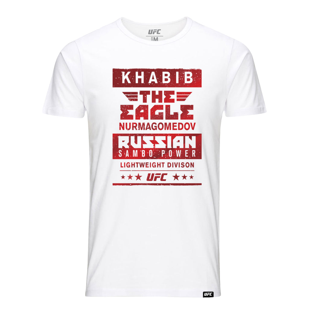 "UFC Khabib ""The Eagle"" Nurmagomedov Sambo Power Tee-White"