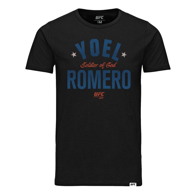 "UFC Yoel ""Soldier of God"" Romero Old School Tee-Black"