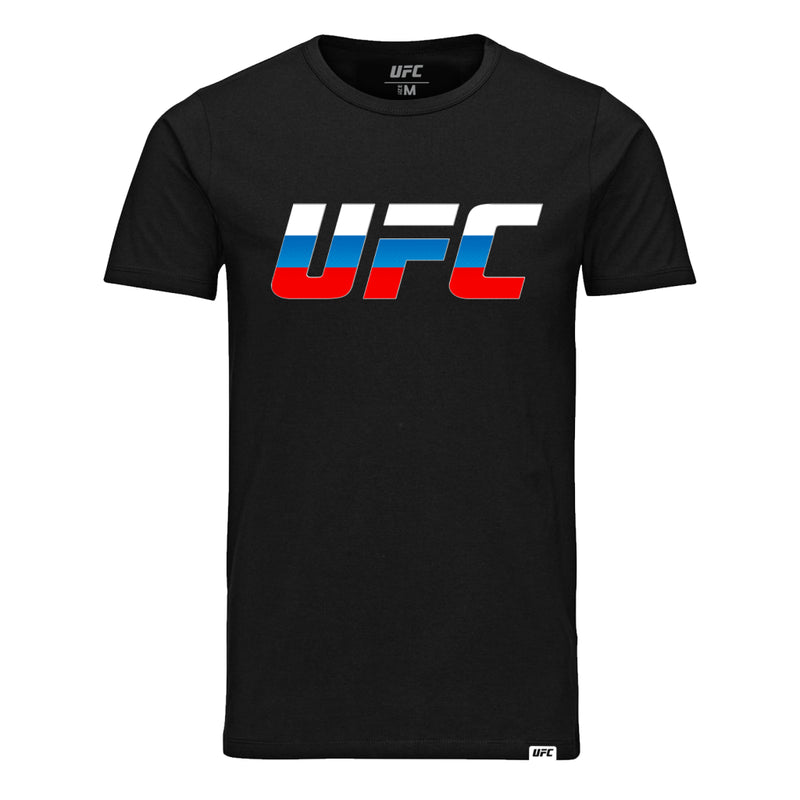 UFC Country Logo Russia T-Shirt -Black