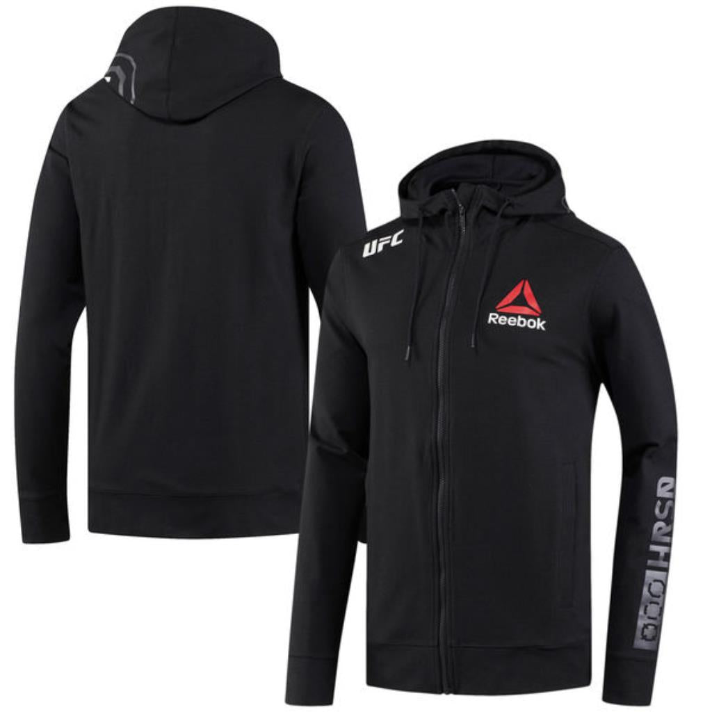 Personalised Men's Reebok Black UFC Fight Night Walkout Hoodie Replica