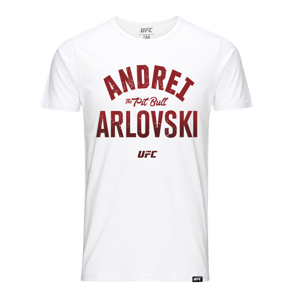 "UFC Andrei ""The Pit Bull"" Arlovski Old School Tee-White"