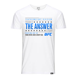 "UFC Frankie ""The Answer"" Edgar Graphic Tee-White"
