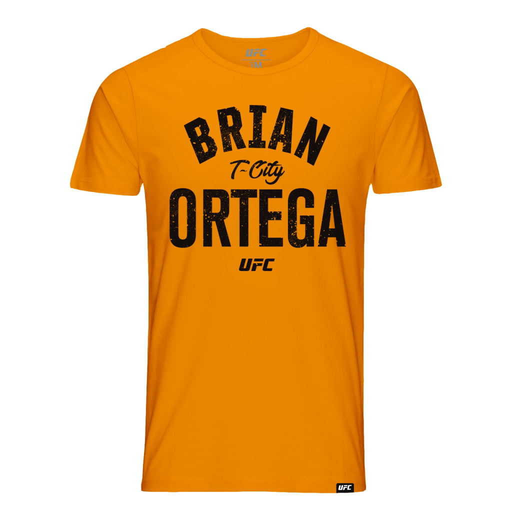 "UFC Brian ""T-City"" Ortega Old School Tee-Orange"