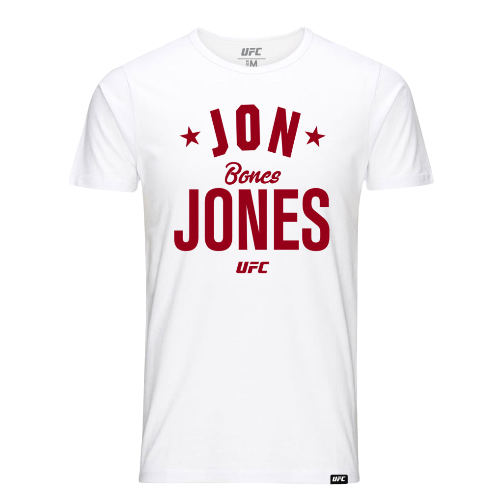 "UFC Jon ""Bones"" Jones Old School Tee-White"