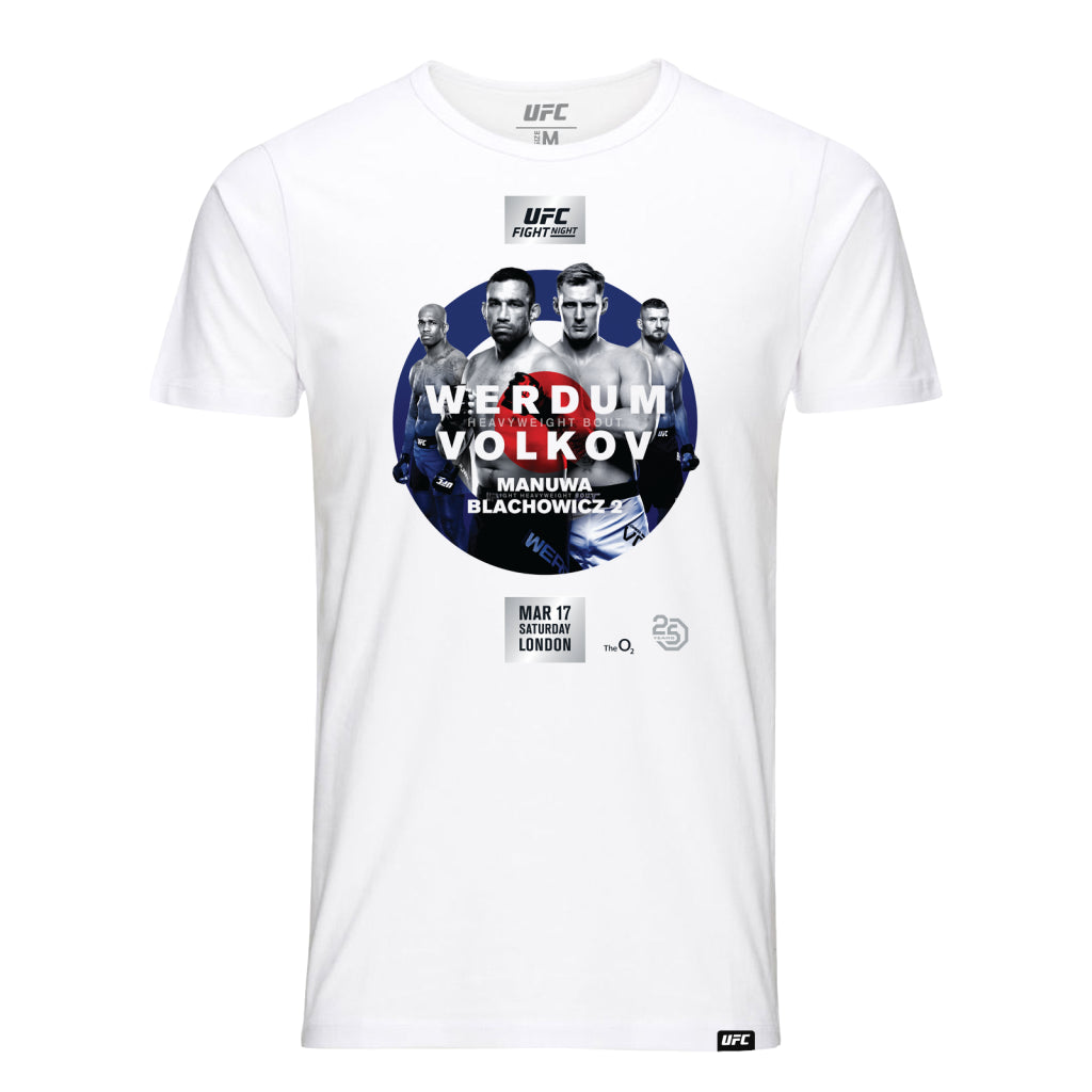 UFC Fight Night London Werdum vs. Volkov Event Tee-White