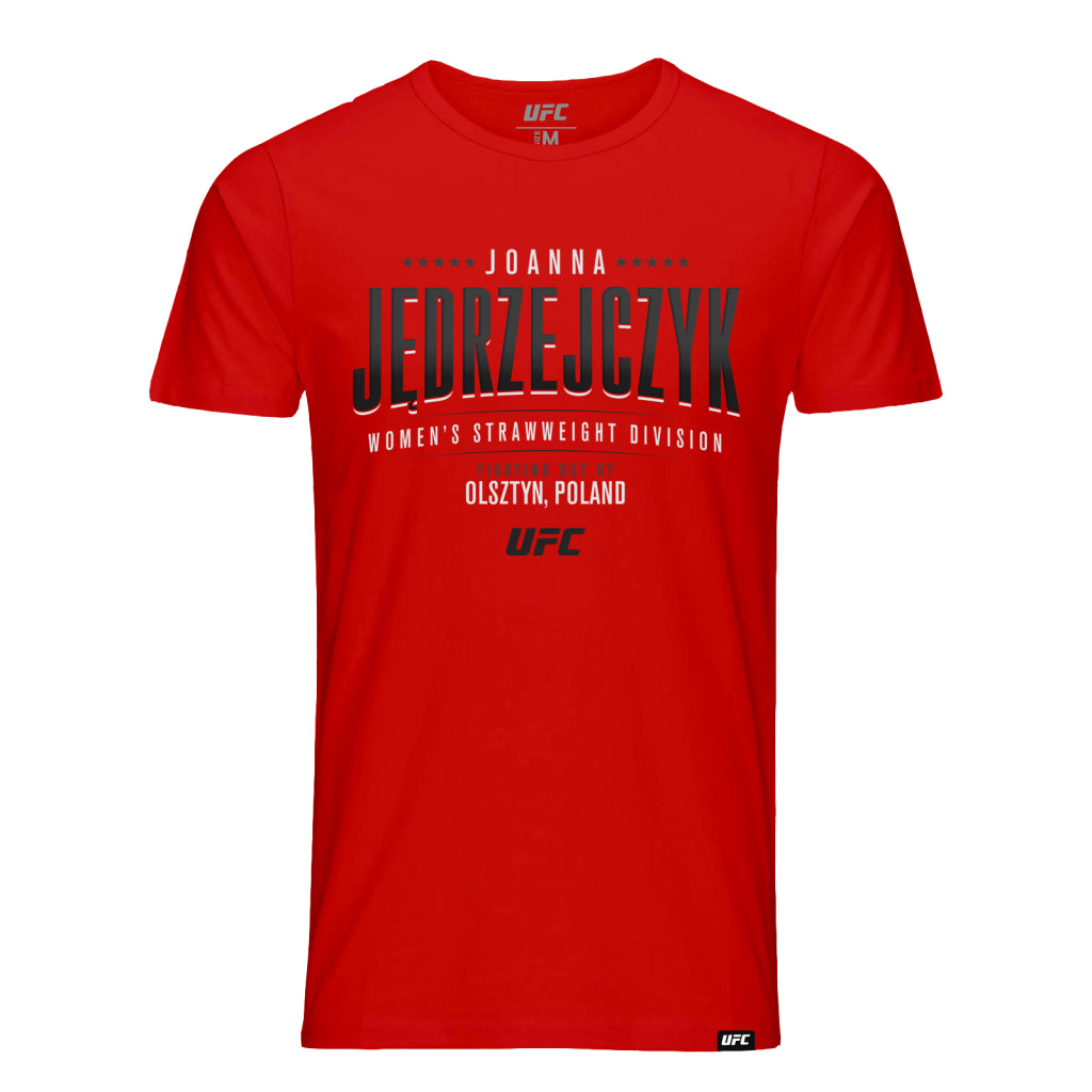 UFC Joanna Jędrzejczyk Five Star Graphic T-Shirt-Red