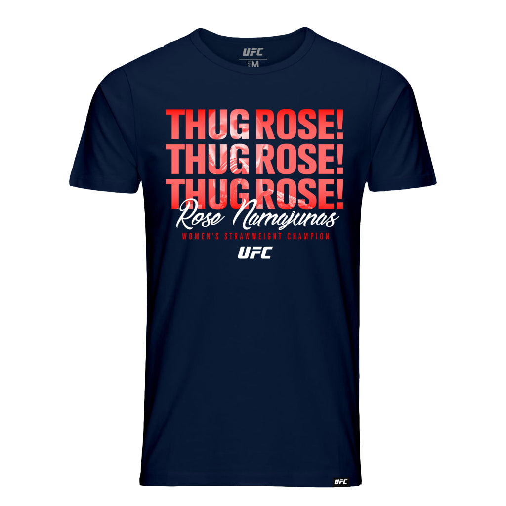 "Men's UFC Rose ""Thug"" Namajunas Quote T-Shirt-Navy"